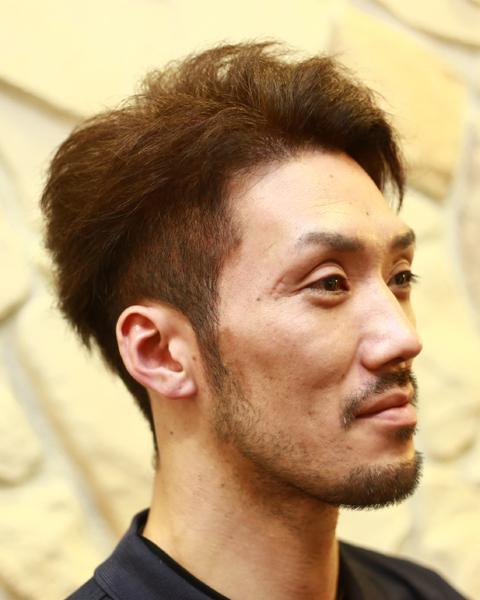 相模原 橋本駅 理容 美容室 男性 メンズ ヘアスタイル 写真 ヘアカラー