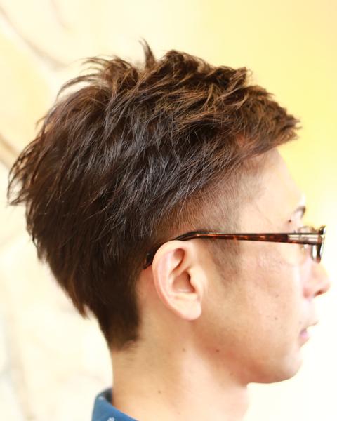 相模原橋本理容床屋 メンズヘアカットショップスタイルのヘアスタイルパーマ写真